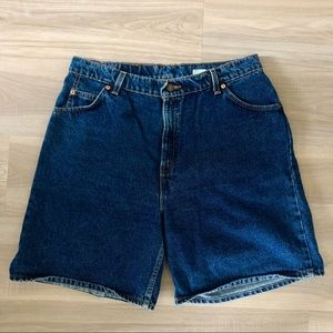 Levi's Orange Tab High Waisted Mom Shorts